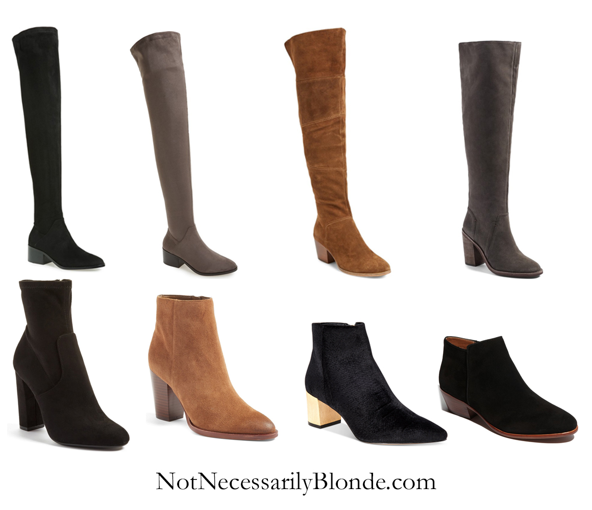 Jocelyn of Not Necessarily Blonde in Fall boots
